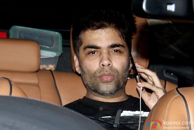 Karan Johar Snapped At Bahubali Special Screening