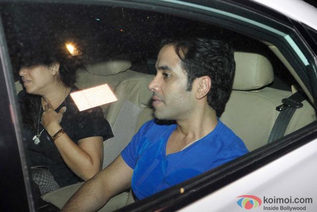 Tushar Kapoor Snapped At Bahubali Special Screening