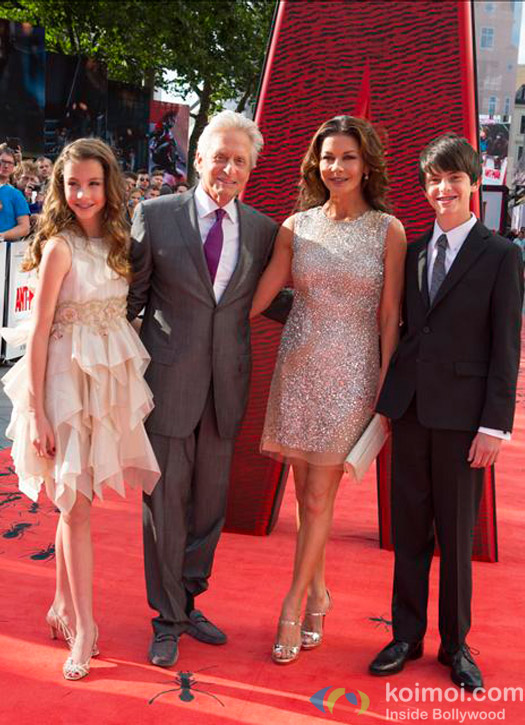Grieving Michael Douglas With Family At Ant-Man's European Premiere