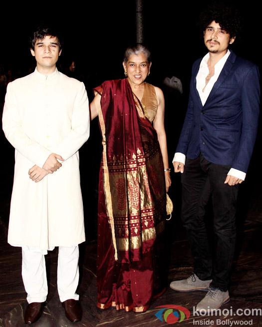 Vivaan Shah, Ratna Pathak and Imaad Shah attend Shahid Kapoor and Mira Rajput's reception