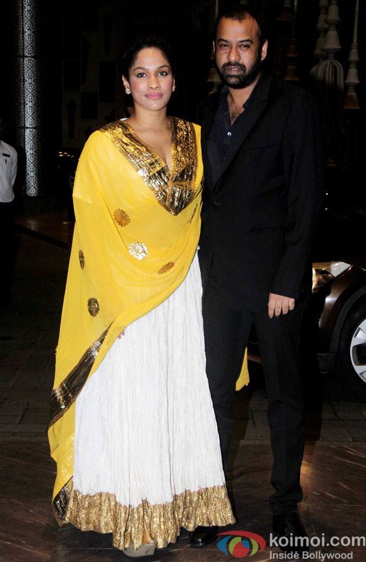 Masaba Gupta and Madhu Mantena attend Shahid Kapoor and Mira Rajput's reception
