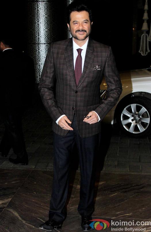 Anil Kapoor attend Shahid Kapoor and Mira Rajput's reception