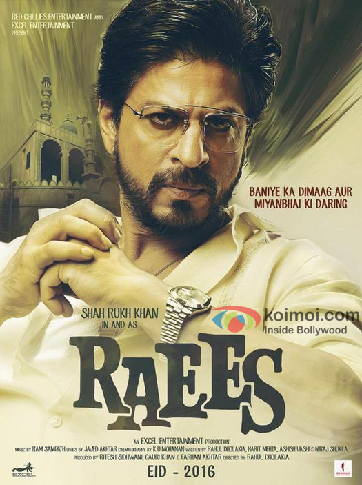 First look poster of Raees starring Shah Rukh Khan