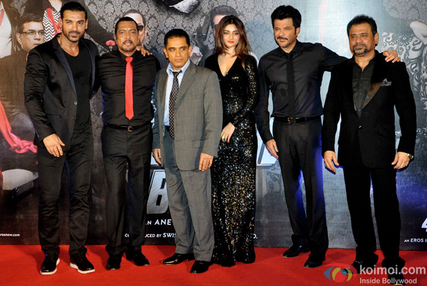 John Abraham, Nana Patekar, Ankita Srivastava, Anil Kapoor and Anees Bazmee during the trailer launch of 'Welcome Back'