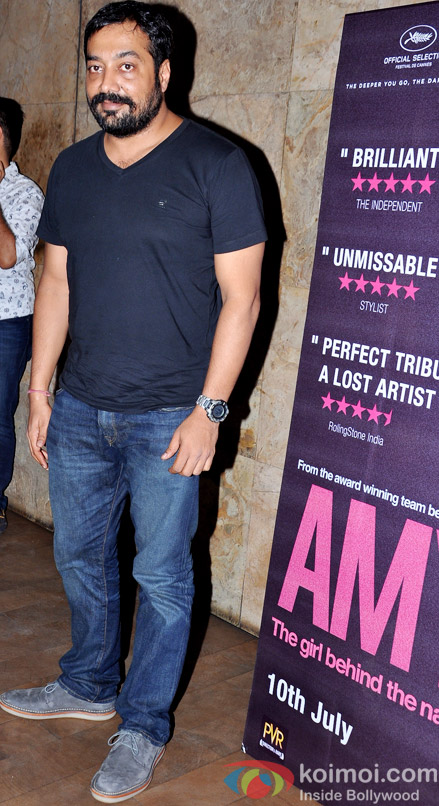 Anurag Kashyap during the Amy premiere in India