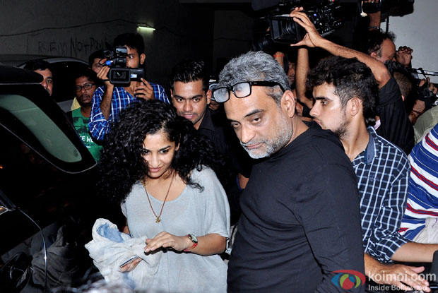 Gauri Shinde and R. Balki during the Amy premiere in India