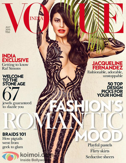 Oh-So-Hot! Jacqueline Fernandez On The Vogue Cover