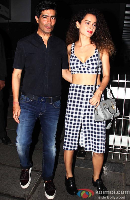 Manish Malhotra and Kangna Ranaut snapped at Hakkason Bandra