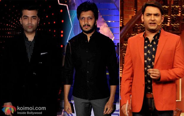 Karan Johar, Riteish Deshmukh and Kapil Sharma