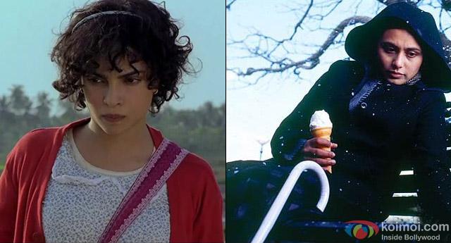 Priyanka Chopra in a still from movie 'Barfi!' and Rani Mukerji in a still from movie 'Black'