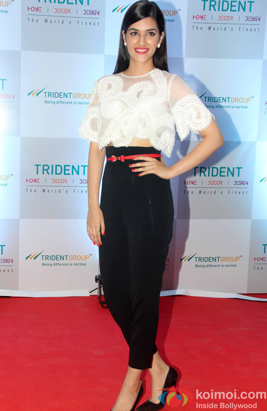 Kriti Sanon during the launch of Trident group new Bath & Home Linen collection