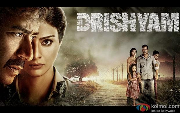 Ajay Devgn, Tabu & Shriya Saran Starring 'Drishyam' movie poster