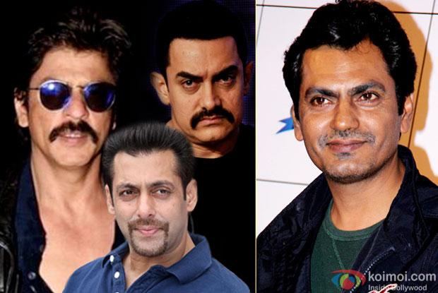 Shah Rukh Khan, Salman Khan, Aamir Khan and Nawazuddin Siddiqui