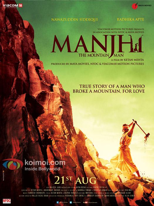 Nawazuddin Siddique starrer 'Manjhi- The Mountain Man' movie poster