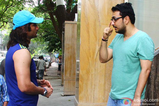 Sushant Singh Rajput was spotted with Dinesh Vijan of Maddock Films outside his residence