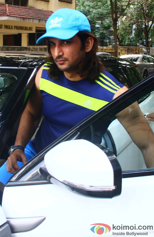 Sushant Singh Rajput was spotted at Maddock Films