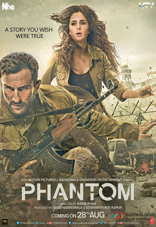 Saif Ali Khan and Katrina Kaif in a Phantom Movie Poster 1