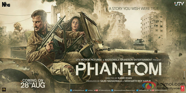 Saif Ali Khan and Katrina Kaif in a Phantom Movie Poster 4