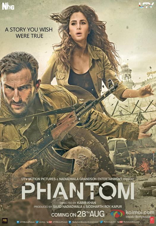 Saif Ali Khan and Katrina Kaif in a 'Phantom' Movie Poster
