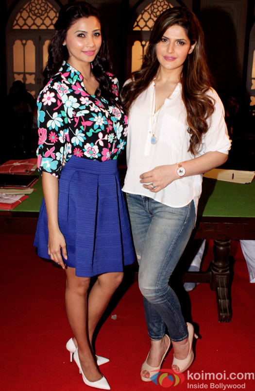 Daisy Shah and Zarine Khan on the sets of movie Hate story 3