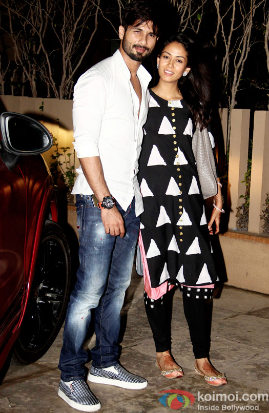 Shahid Kapoor & Mira Rajput snapped during returned to Home In Mumbai