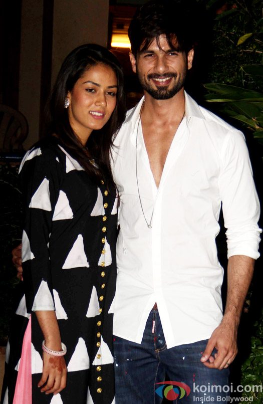 Mira Rajput and Shahid Kapoor snapped during returned to Home In Mumbai