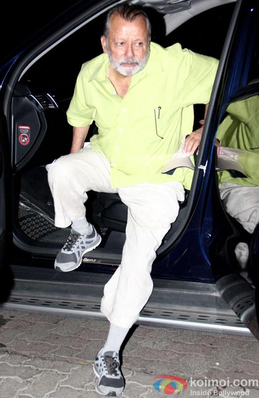 Pankaj Kapur snapped during returned to Home In Mumbai
