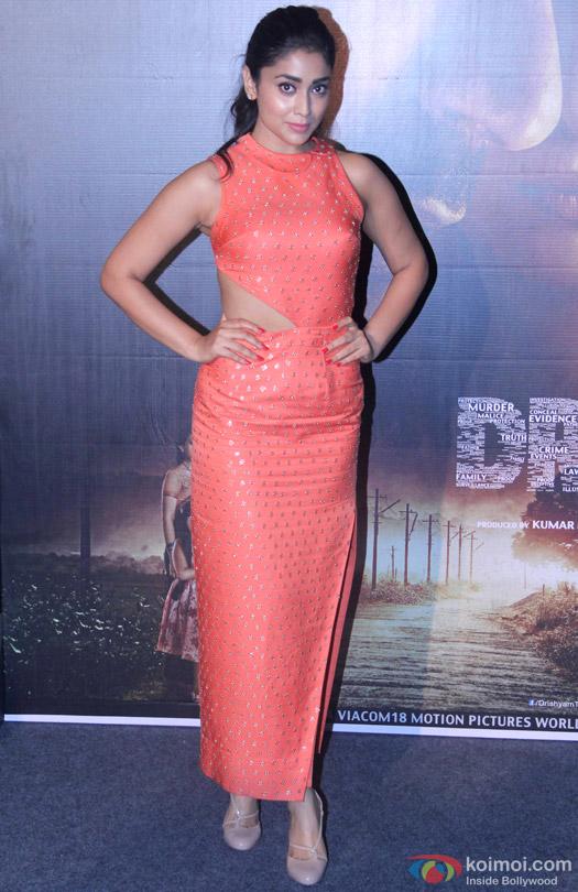 Shriya Saran during the press conference of movie 'Drishyam'