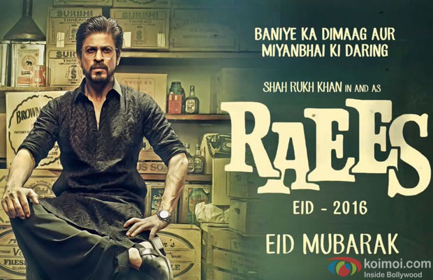 Shah Rukh Khan in a still from 'Raees' motion poster