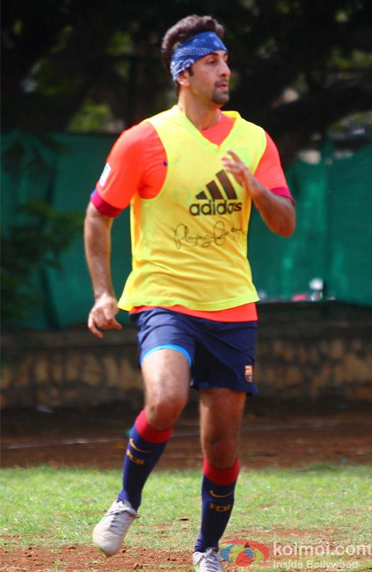 Ranbir Kapoor Snapped At Playing Football