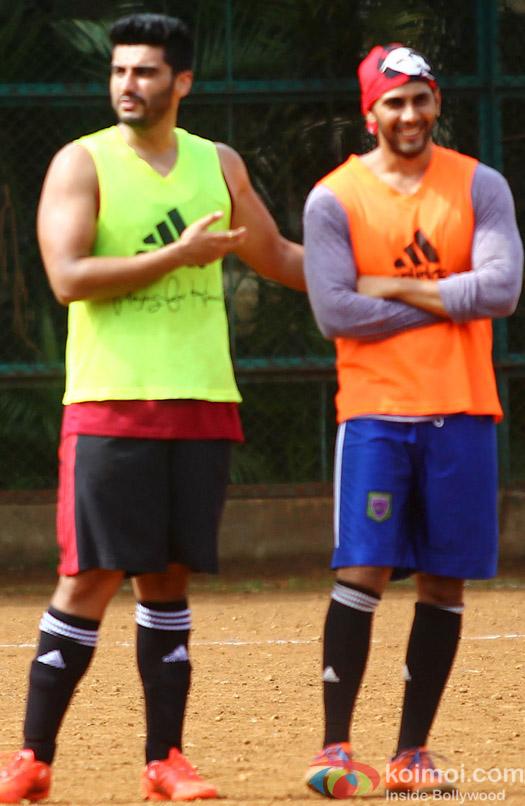 Arjun Kapoor Snapped At Playing Football