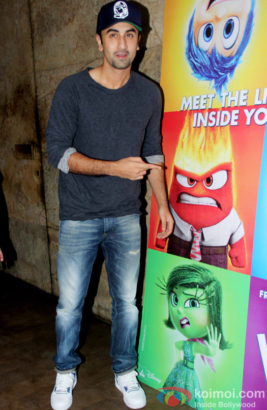 Ranbir Kapoor spotted at the Special screening of Inside Out