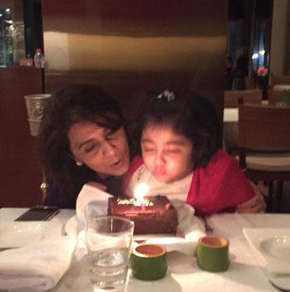 Neetu Kapoor Celebrating her birthday with grand-daughter Samara