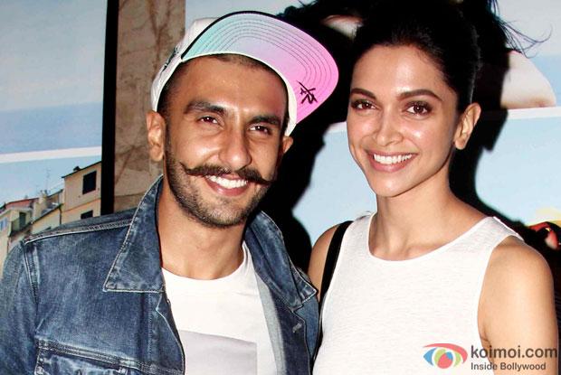 Ranveer Singh and Deepika Padukone at an event