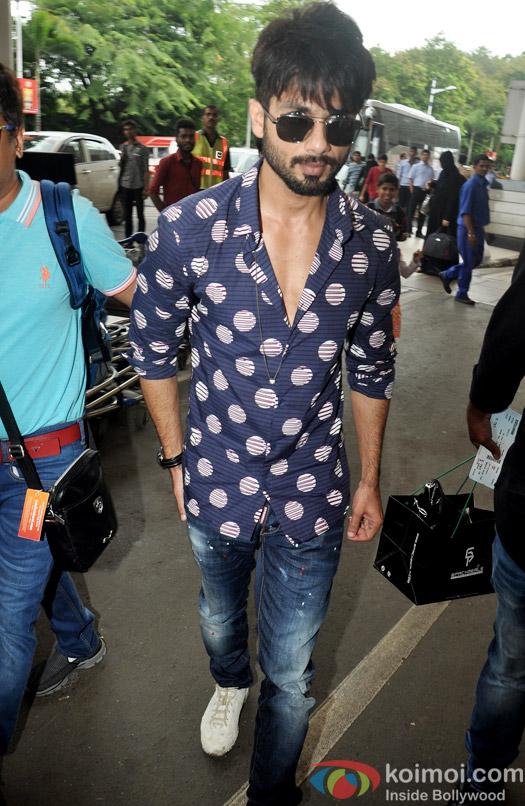 Sahid Kapoor Leaves For His Wedding At Delhi