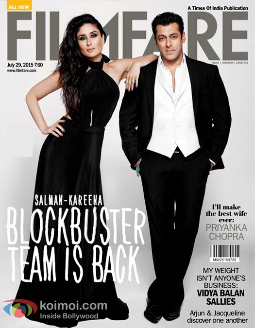 Kareena Kapoor Khan and Salman And Kareena On The Cover Of Filmfare
