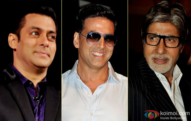 Salman Khan, Akshay Kumar and Amitabh Bachchan