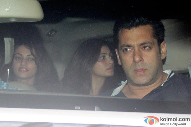 Sneha Ullal, Daisy Shah and Salman Khan Snapped At PVR Juhu