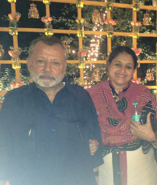 Pankaj Kapur and Supriya Pathak during Sangeet Ceremony of Shaid Kapoor and Mira Rajput