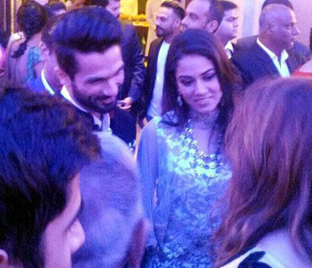 Shahid Kapoor and Mira Rajput during their reception