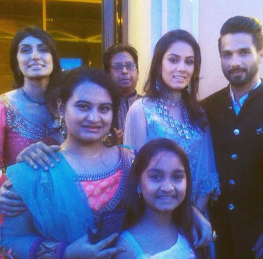 Mira Rajput and Shahid Kapoor during their reception