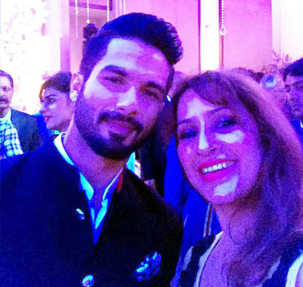 Shahid Kapoor during the reception