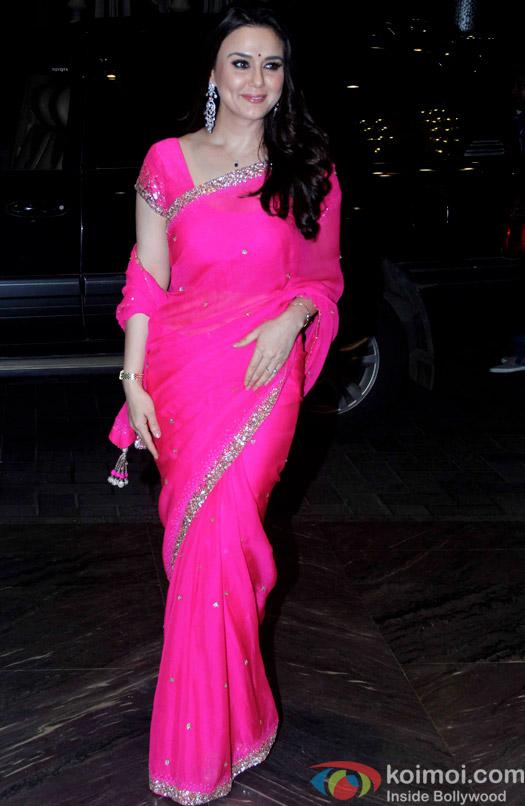 Preity Zinta attend Shahid Kapoor and Mira Rajput's reception