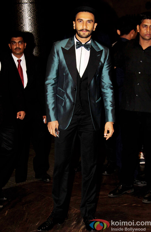 Ranveer Singh attend Shahid Kapoor and Mira Rajput's reception