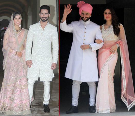 Shahid Kapoor, Mira Rajput, Saif Ali Khan and Kareena Kapoor Khan