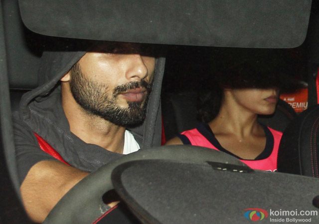 Shahid Kapoor Snapped Coming Out Of Gym