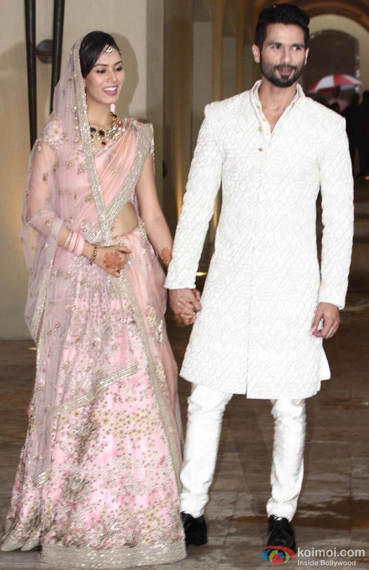 Shahid Kapoor-Mira Rajput's during Wedding Reception
