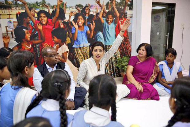 Priyanka Chopra during the UNICEF event