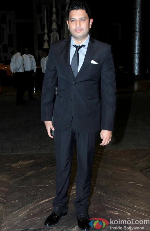 Bhushan Kumar at the Shahid Kapoor-Mira Rajput's Wedding Reception in Mumbai