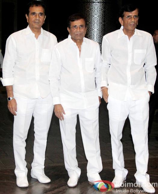 Abbas–Mustan Burmawalla brothers at the Shahid Kapoor-Mira Rajput's Wedding Reception in Mumbai